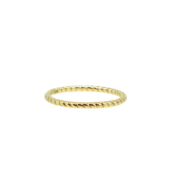 Fine Twist Gold stack ring