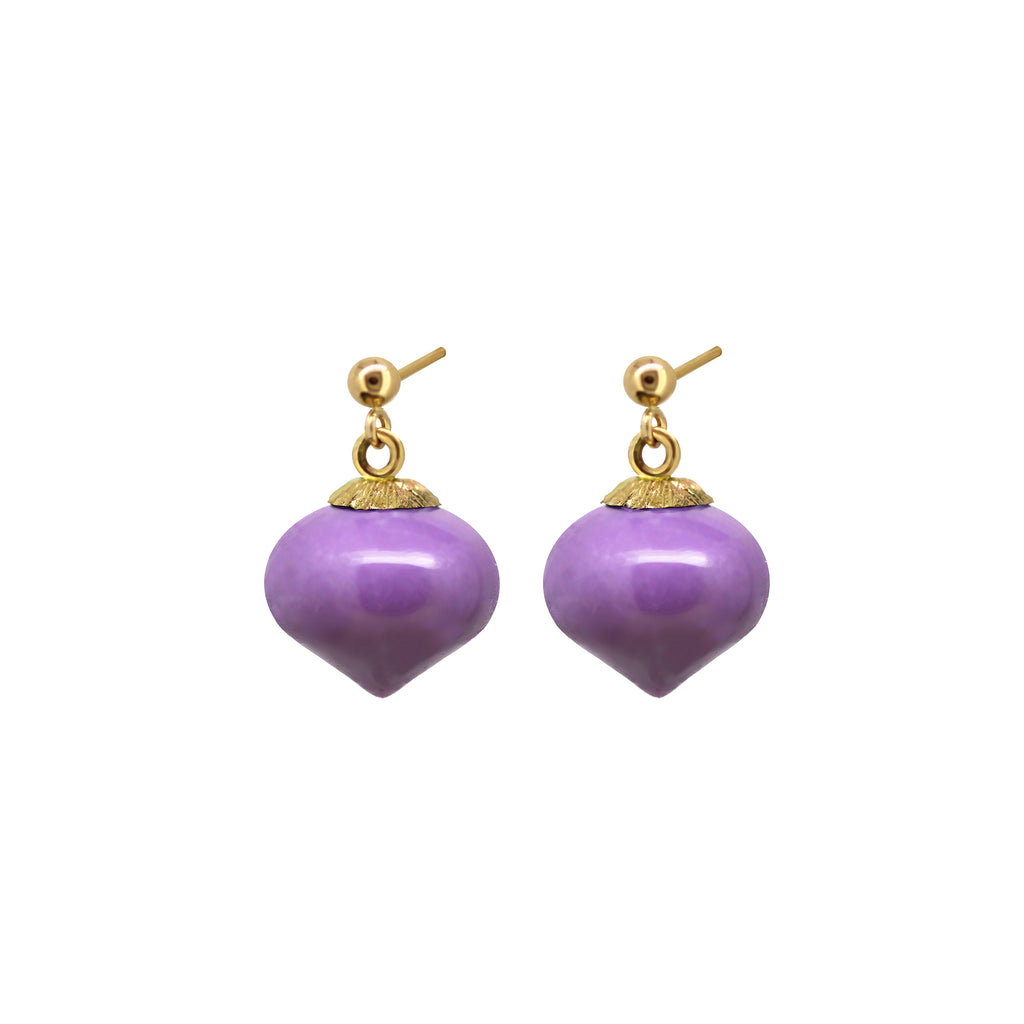 Heterosit short drop earring