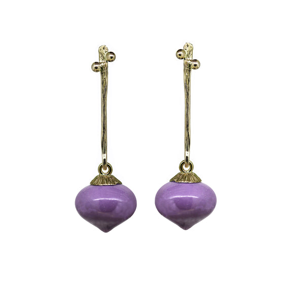 Secret Garden drop earrings with Heterosit