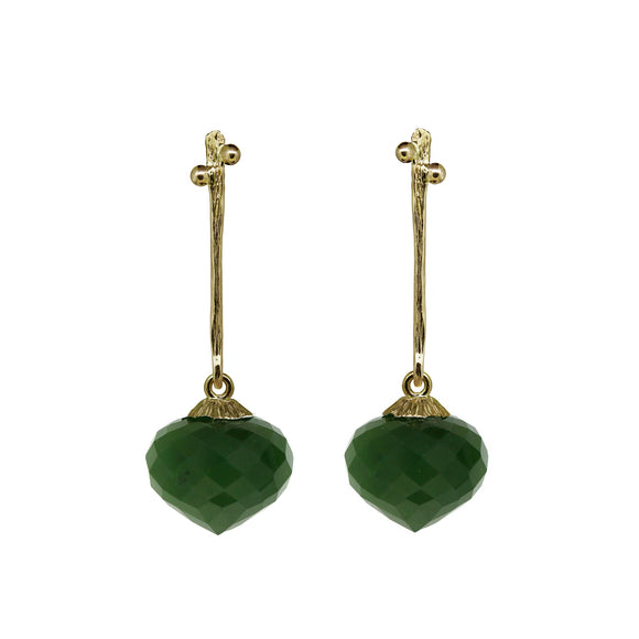 Secret Garden earrings with Jade