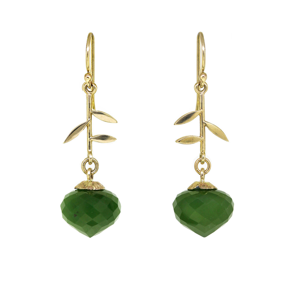 Jade Jardin earrings in gold