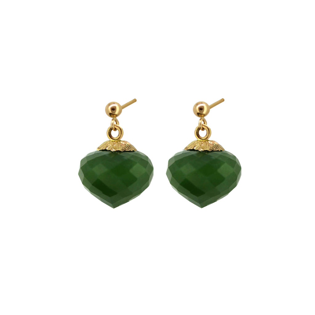 Jade Jardin short drop earrings