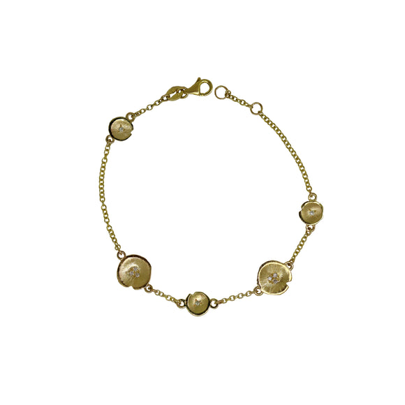 Lilypad Diamond Chain Bracelet