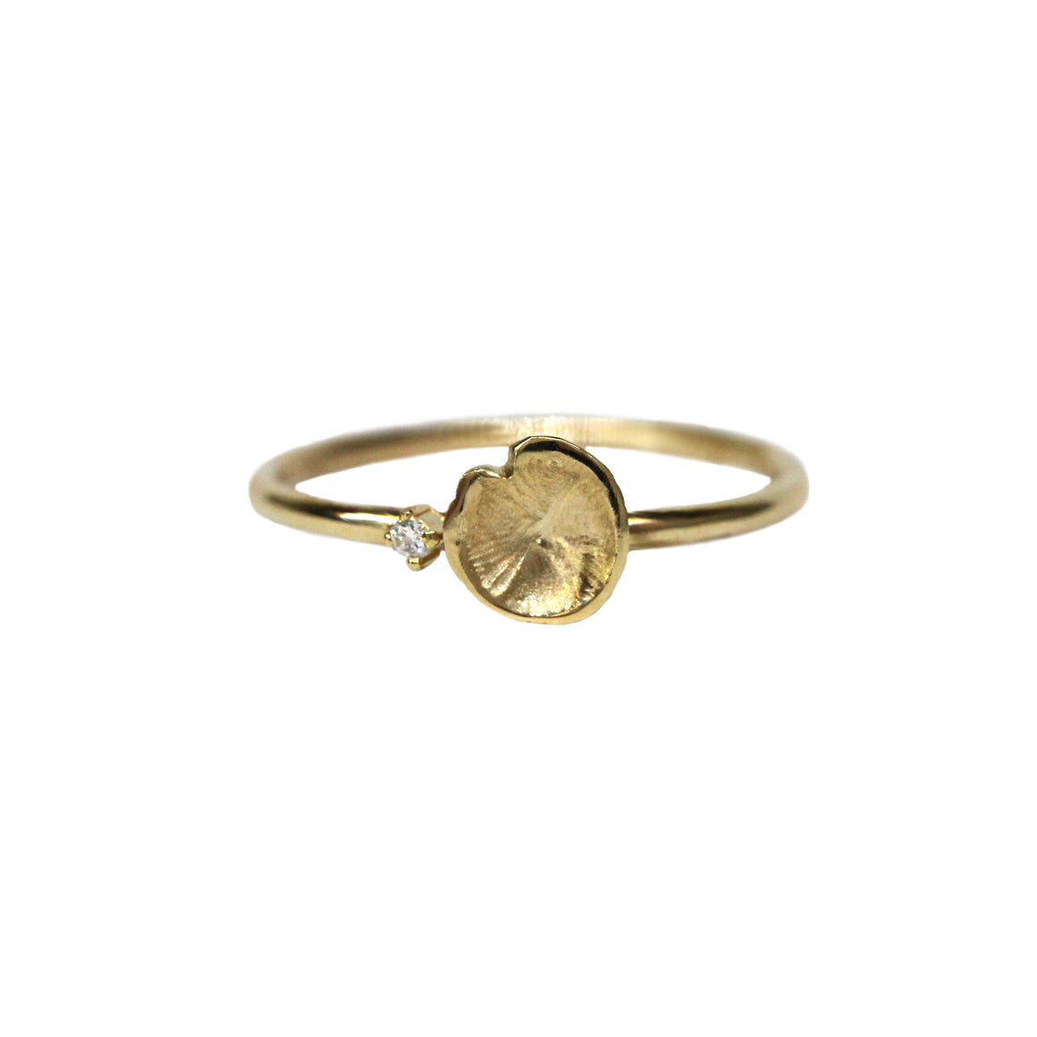Gold Petite Lilypad Diamond Ring