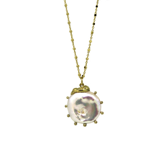 Mollusc Coin Pearl necklace