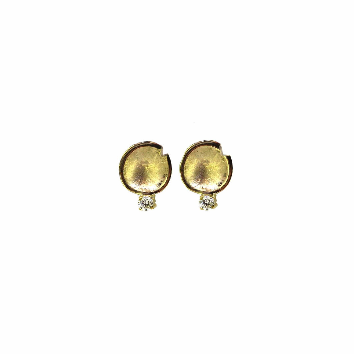 Petite Lilypad Drop Diamond Stud Earrings