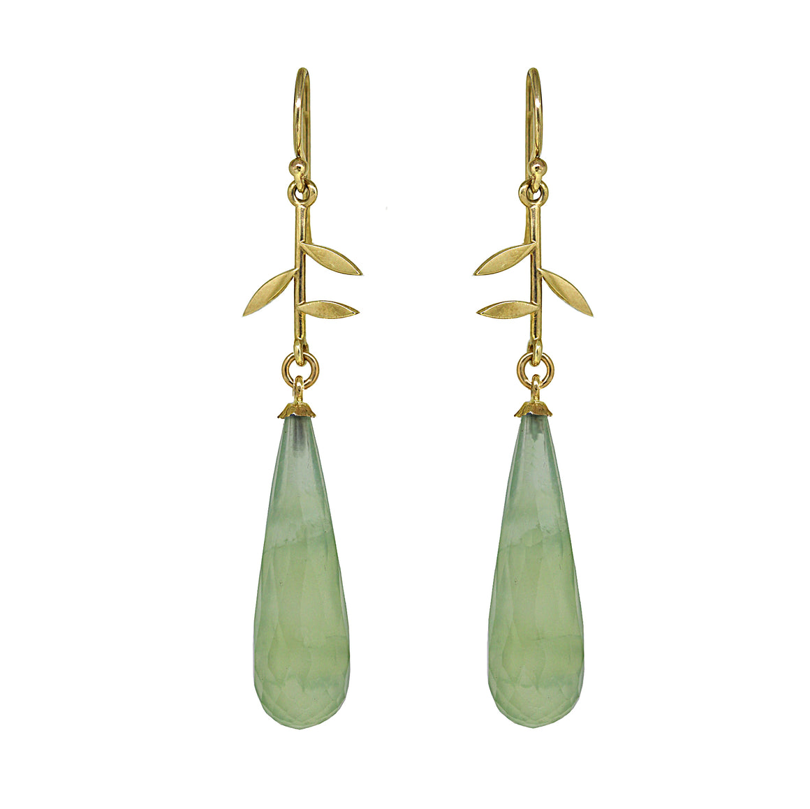 Prehnite Jardin earrings in gold