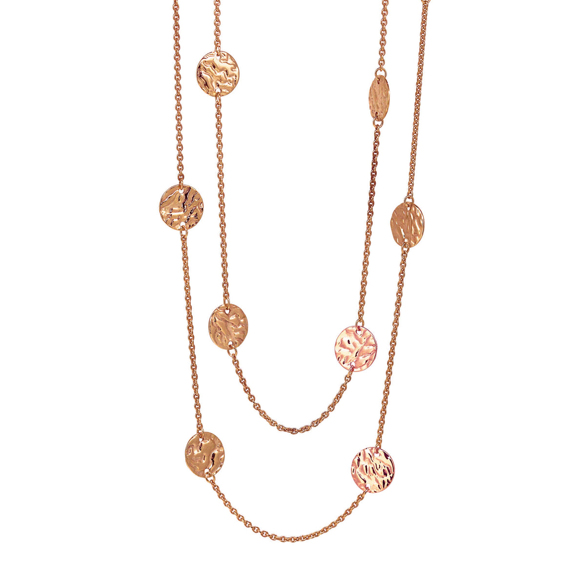 Rose Gold Vermeil Ripple Necklace