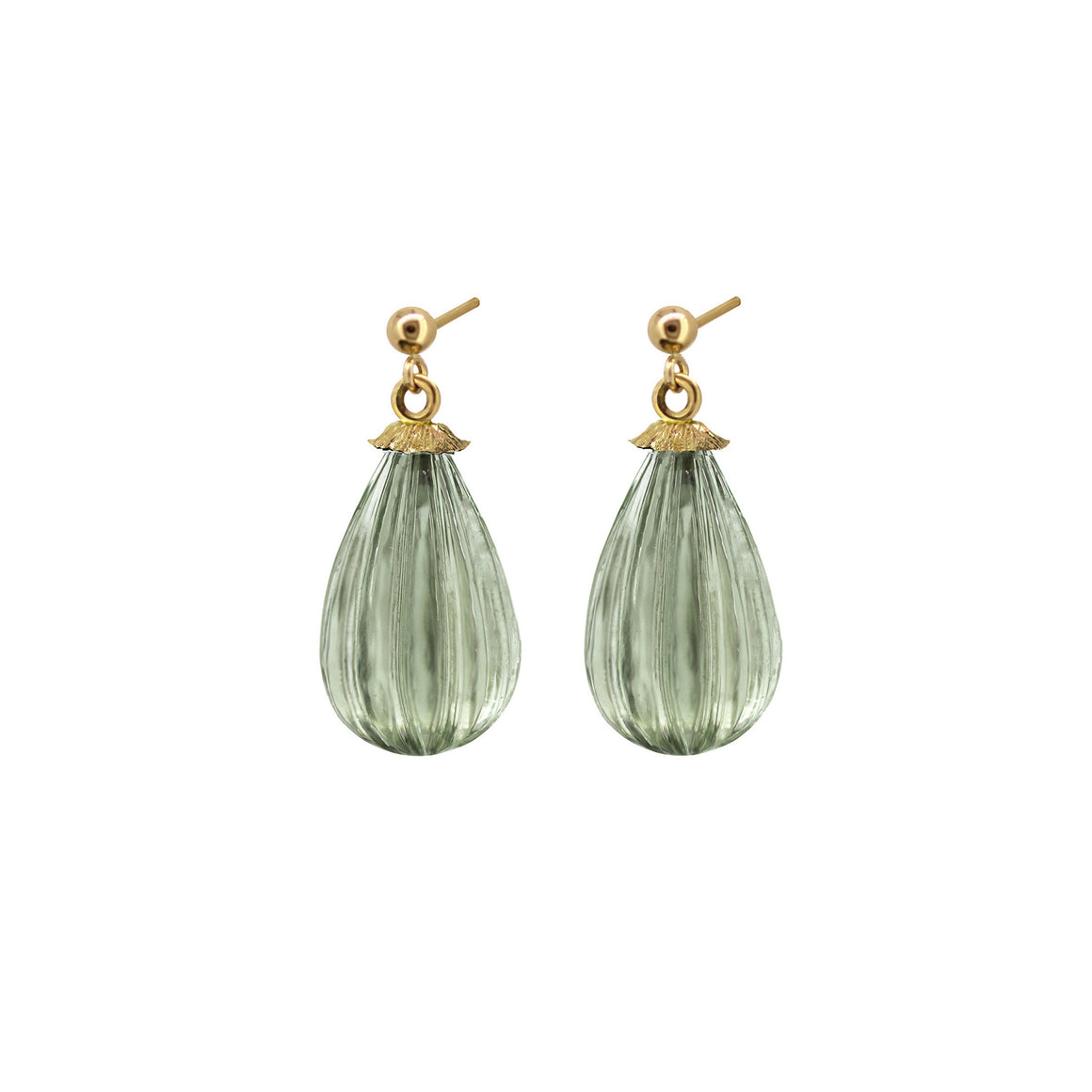 Mandolin Prasiolite drop earrings