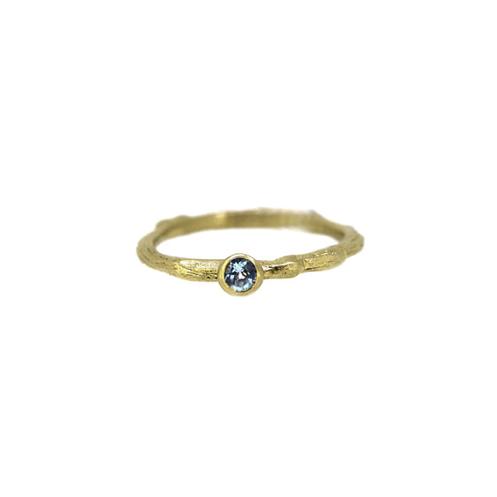 Aquamarine Twiggy Ring