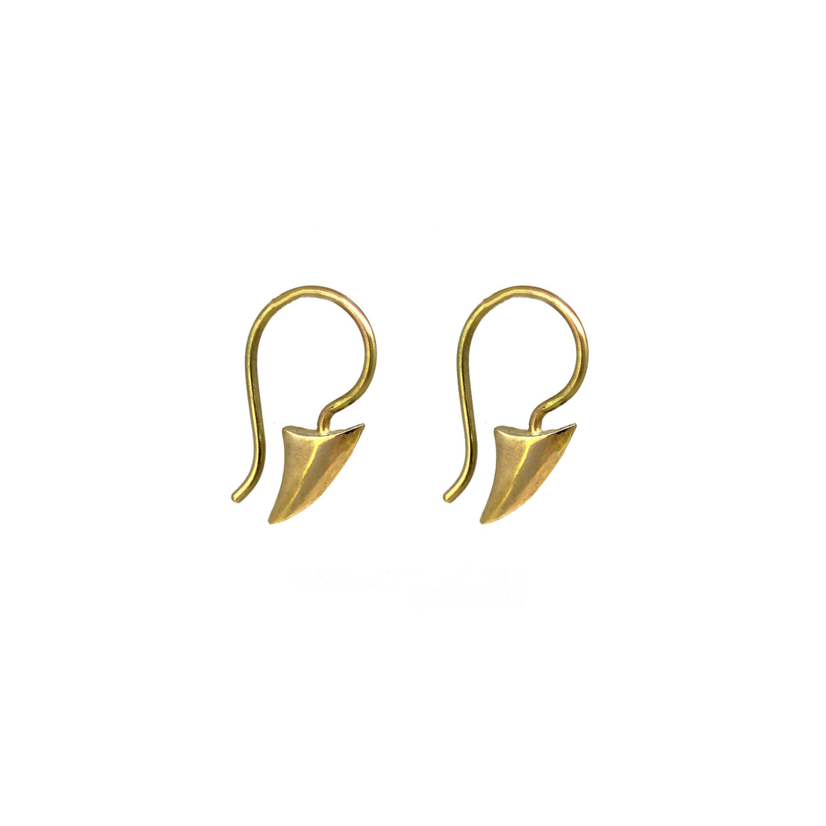Mini Gold Fin Earrings