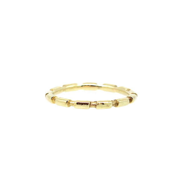 Bamboo Gold Stack Ring