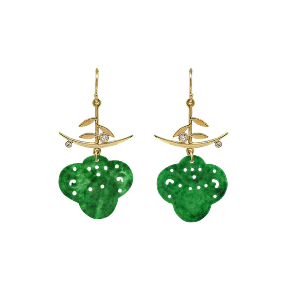 Fleur Nephrite Jade earrings