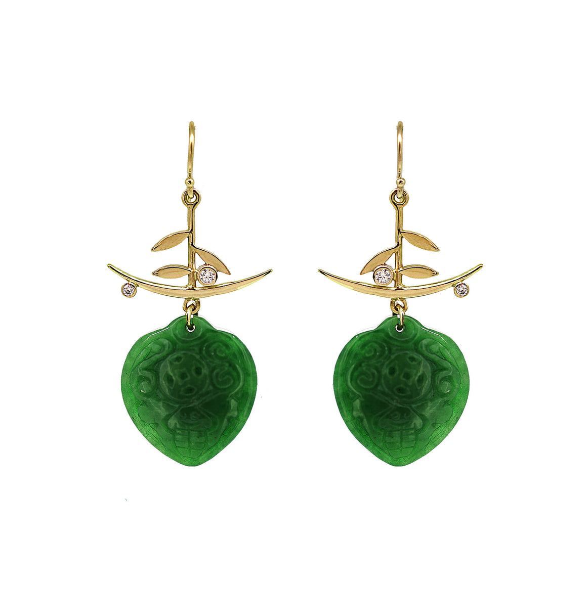 Pillow Nephrite Jade earrings