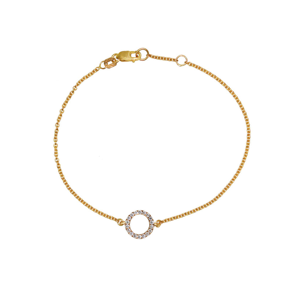 Rose Gold Diamond Circle Bracelet