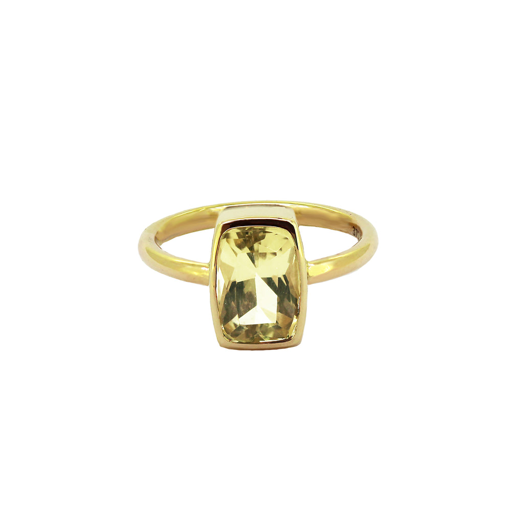Charlotte bezel set Citrine ring