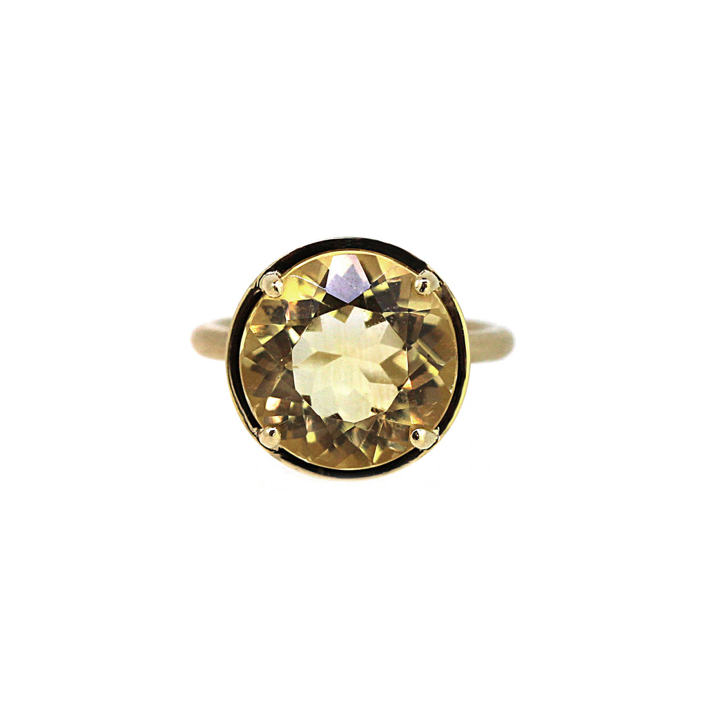 Round Citrine Cocktail Ring