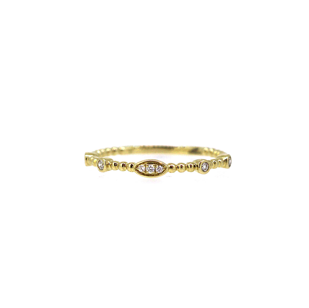 Yellow Gold Diamond Ball Ring