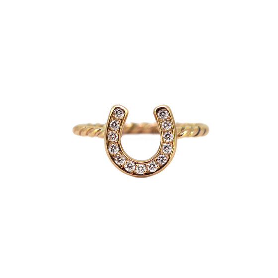 Polo Horseshoe Diamond Ring