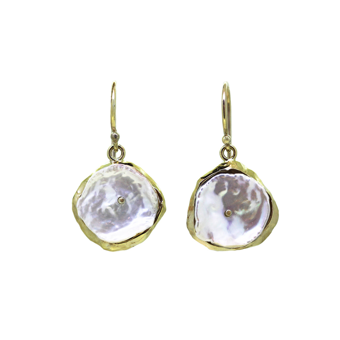 Doubloon Pearl Earrings