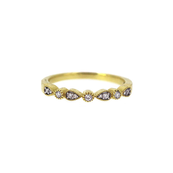 Drop and Dot Diamond Ring