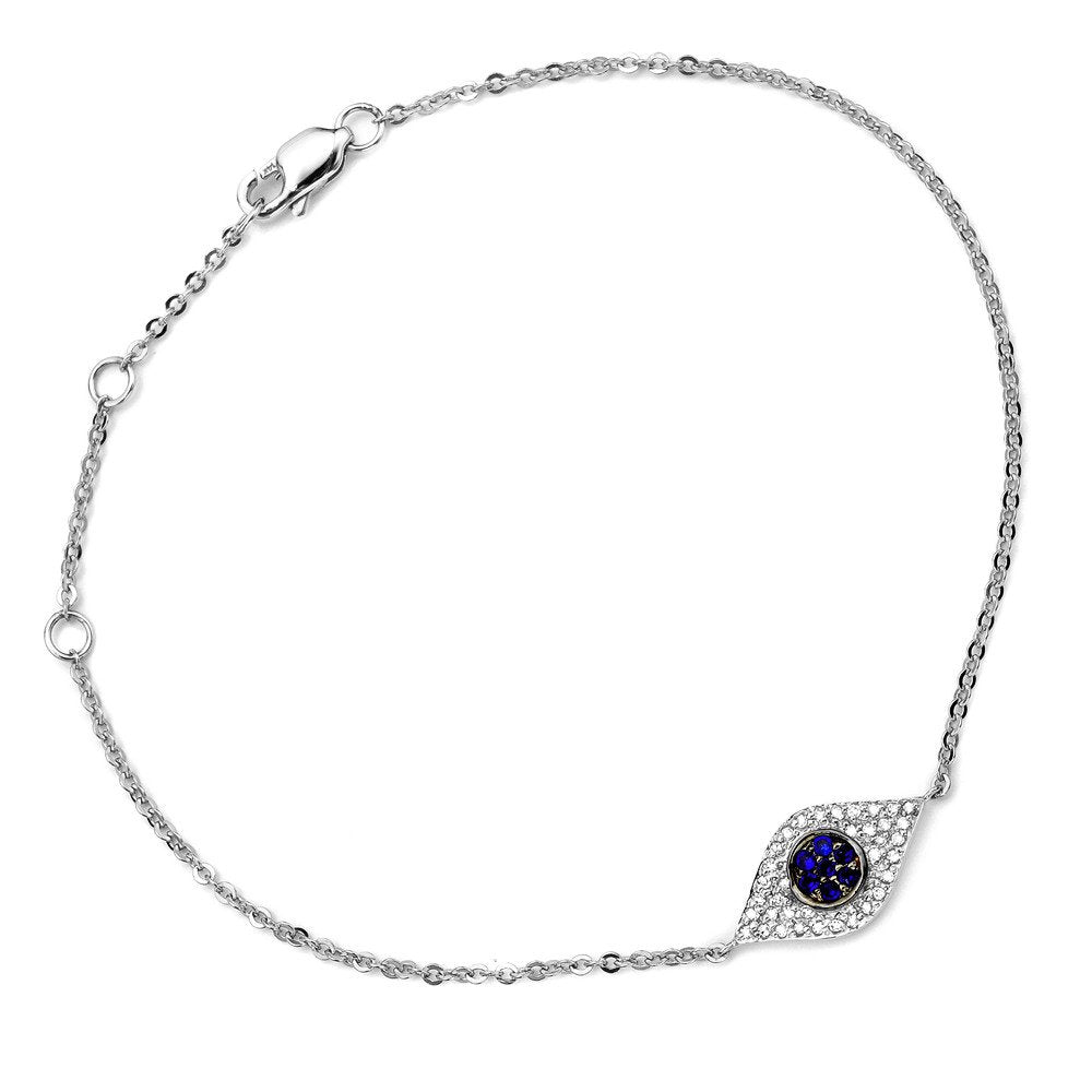 Evil Eye Sapphire and Diamond Bracelet