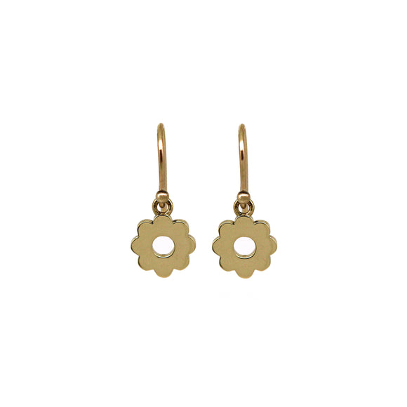 Mini Gold Daisy Earrings