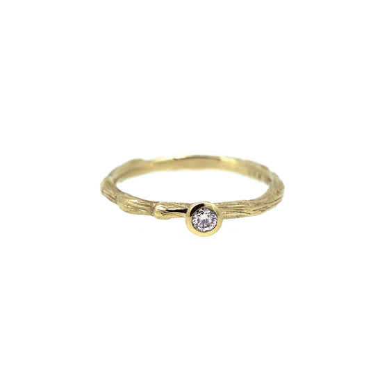 Yellow Gold Diamond Twiggy Ring