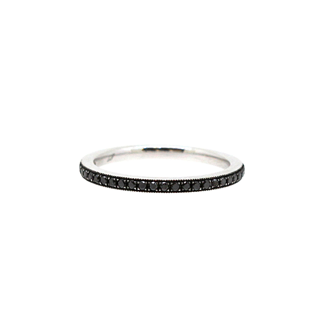 Half Point Black Diamond Band