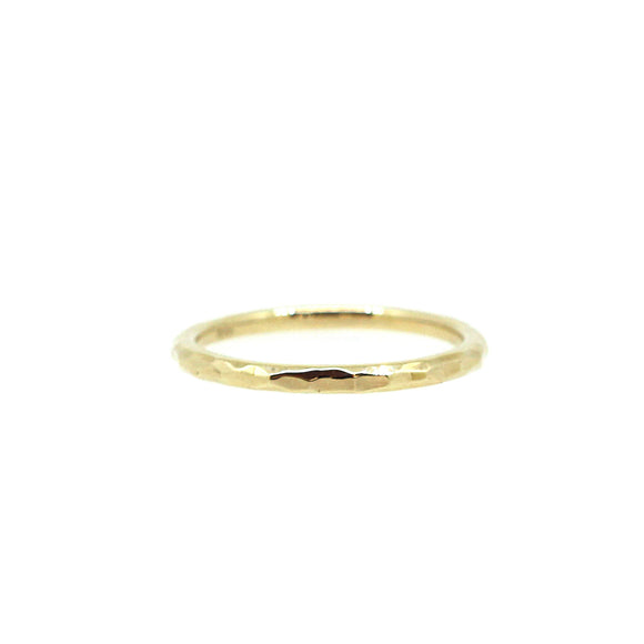 Hammered Gold Stack Ring