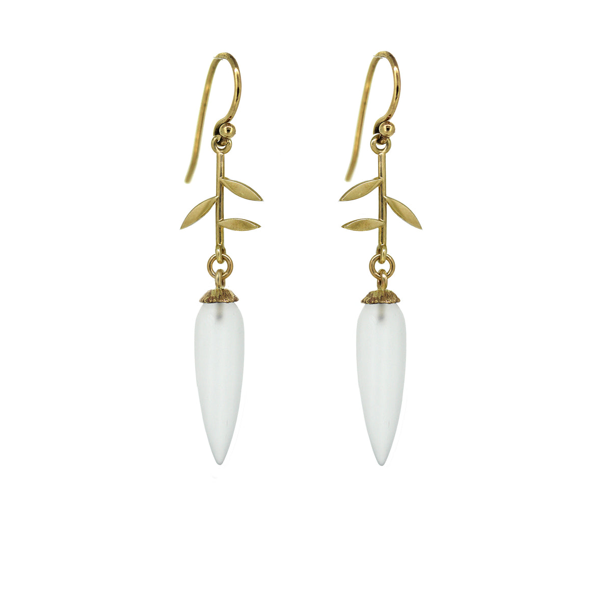 Jardin Quartz drop earrings in gold