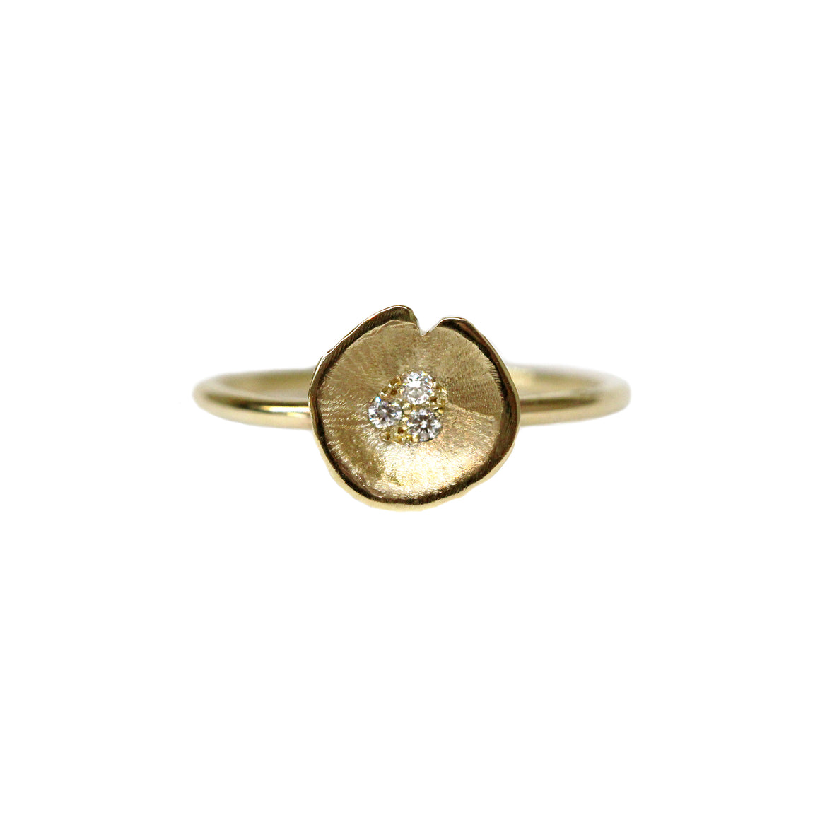 Medium Lilypad Diamond ring