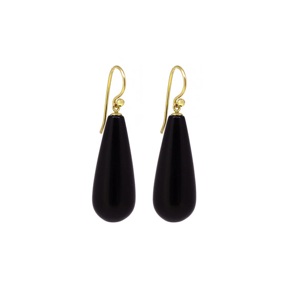 Matte Black Onyx Gemstone Earrings