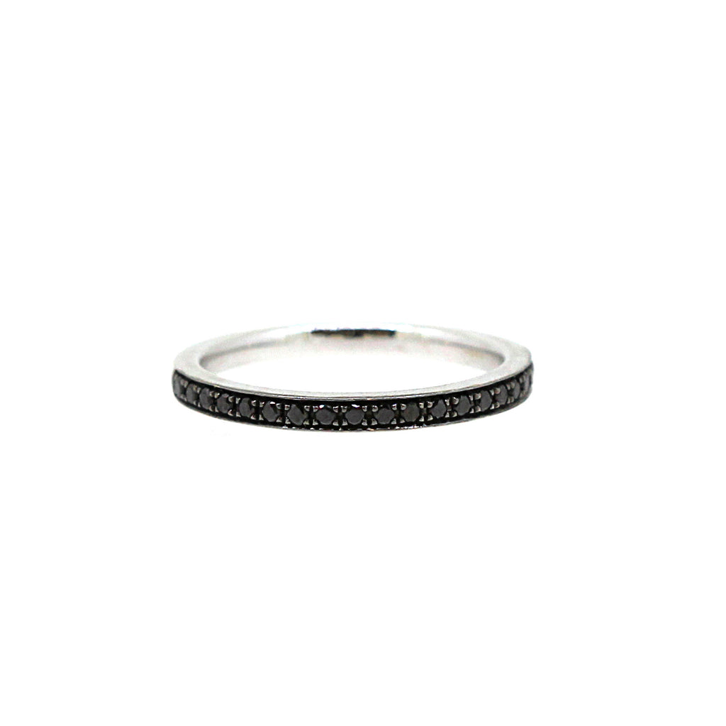 One point Black diamond eternity ring