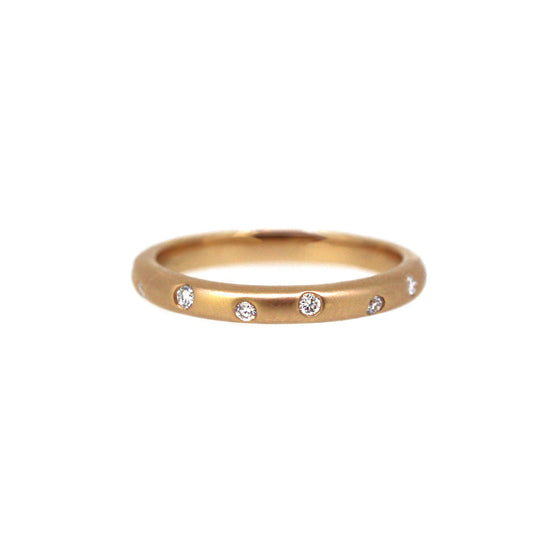 Organic Diamond Band Rose Gold
