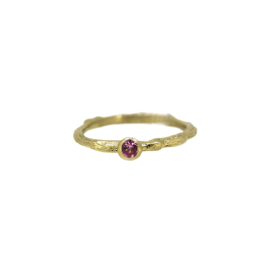 Pink Sapphire Twiggy Ring