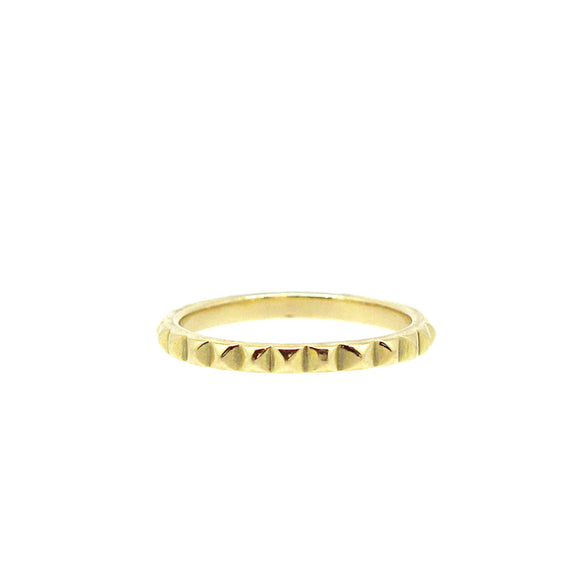 Pyramid Gold Stack Ring