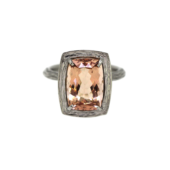 Morganite Twiggy Basket Ring