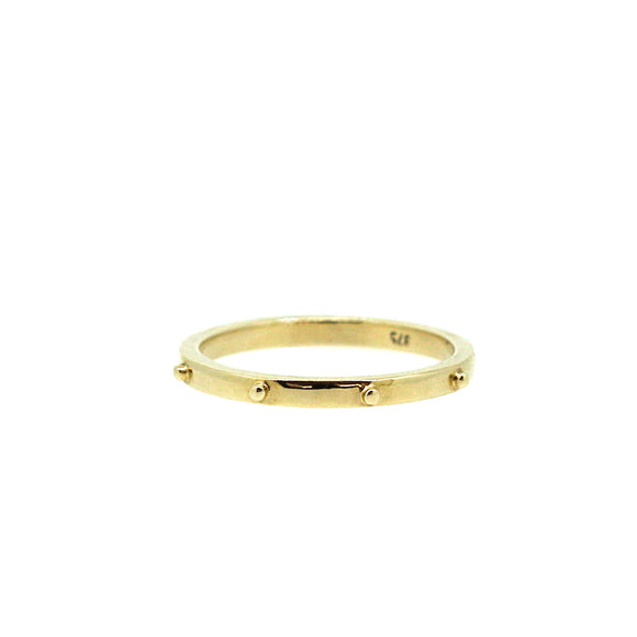 Rosary Gold Stack Ring