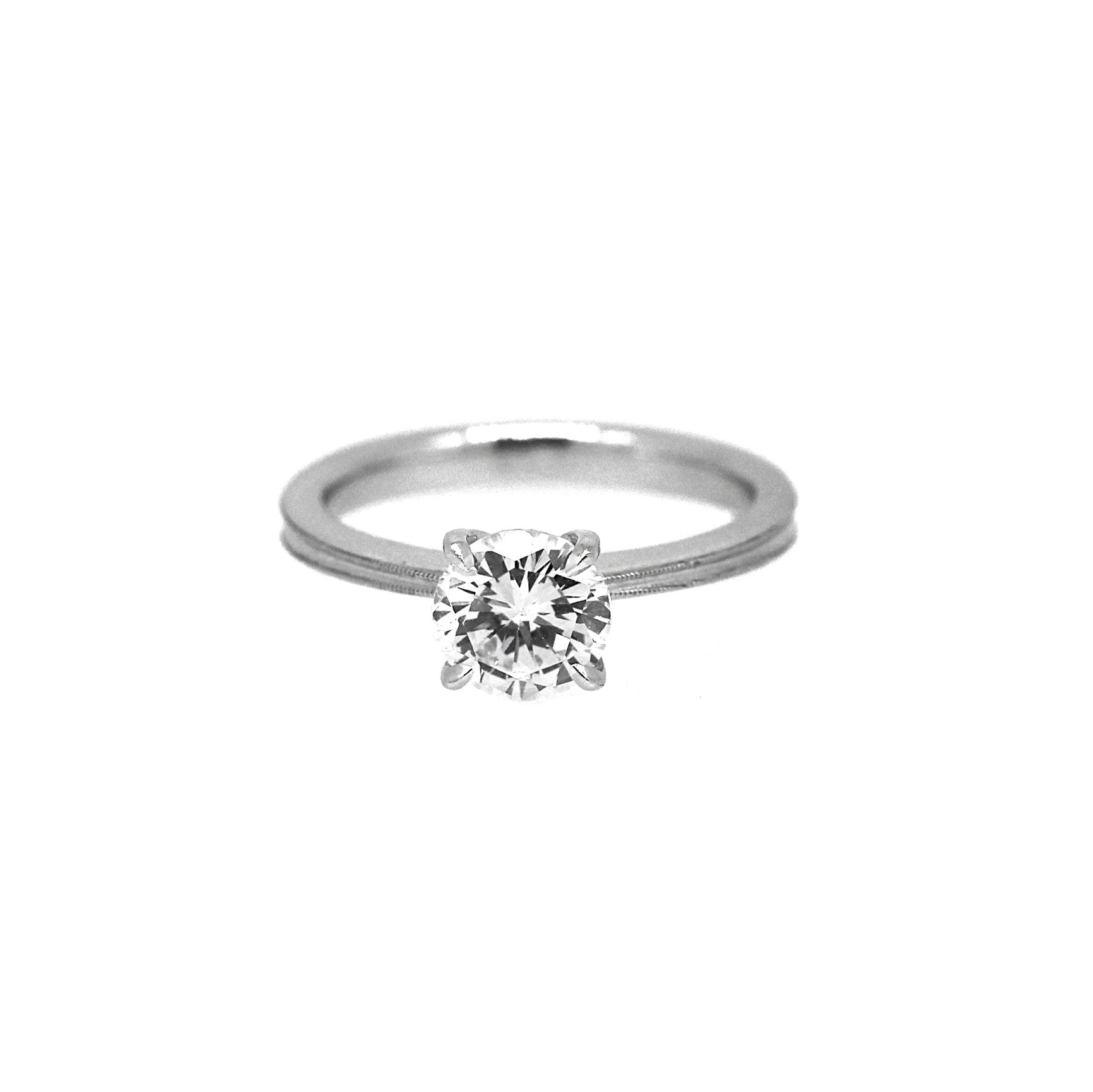 band matching with rings round fotor daimond engagement diamond and shadow ring shop stones side