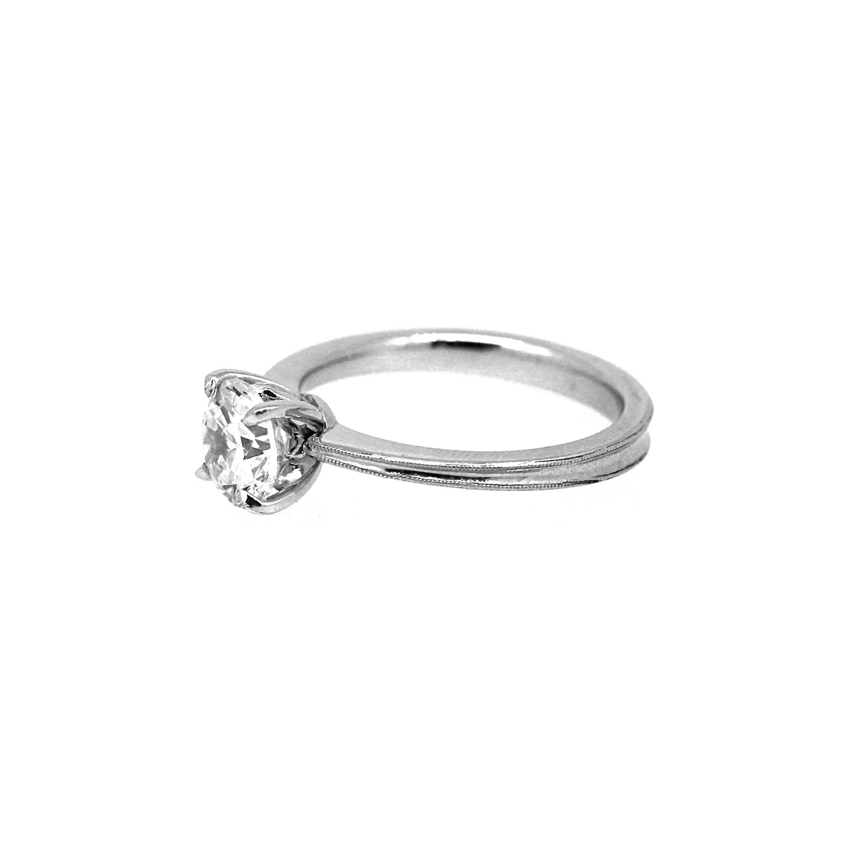 pt setting diamonds prongs pave for engagement on jl solitaire diamond engagment pointer accents small ring shank products perspective in view the with women platinum