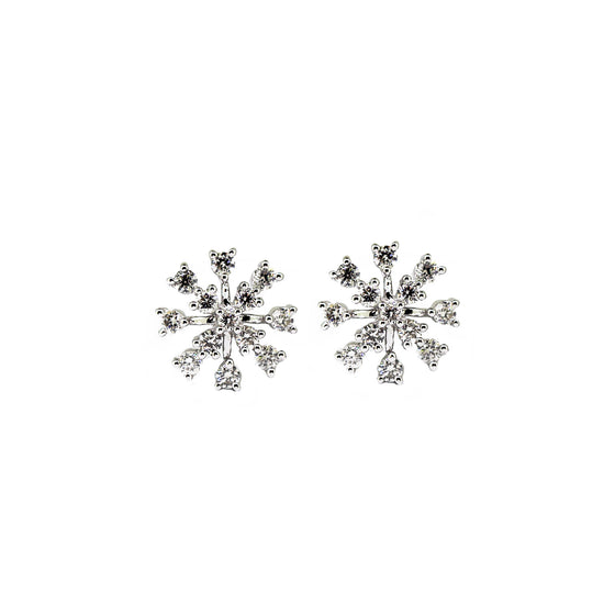 White Gold Starburst Diamond Studs