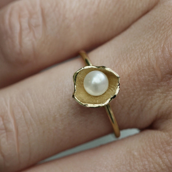 Sunken Treasure Pearl Ring- large