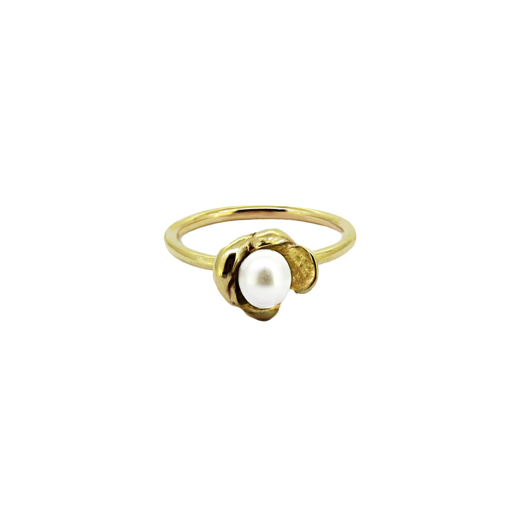 Sunken Treasure Pearl Ring- medium