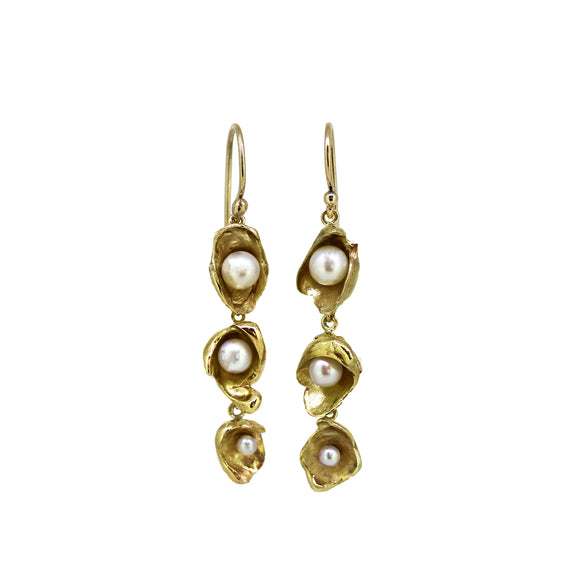 Tiered Sunken Treasure Drop Earrings