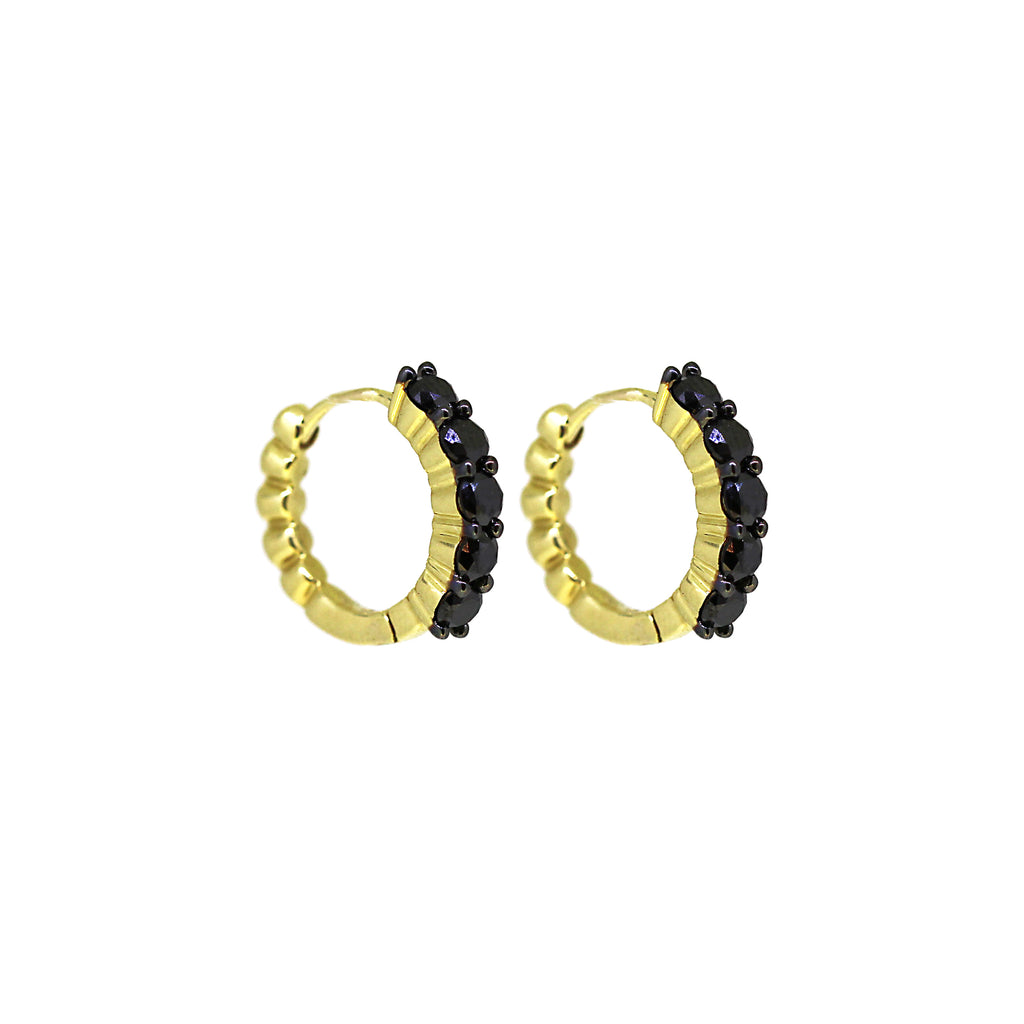 Essentia Black Diamond Hoops