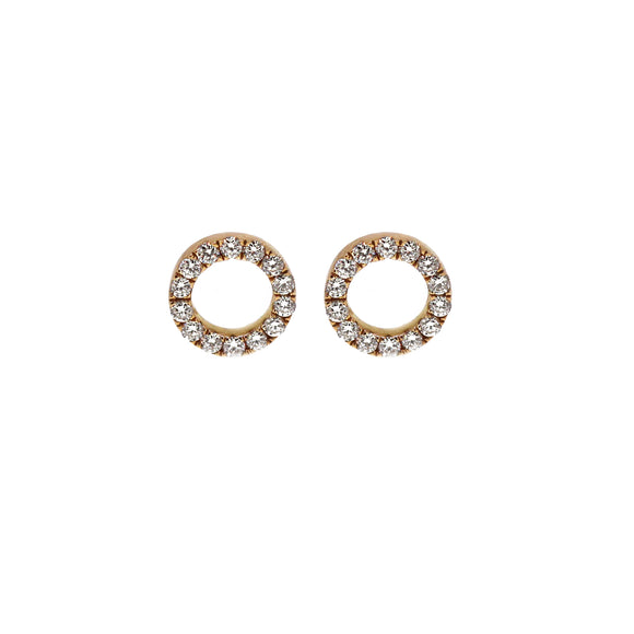 Essentia Diamond Halo Earrings