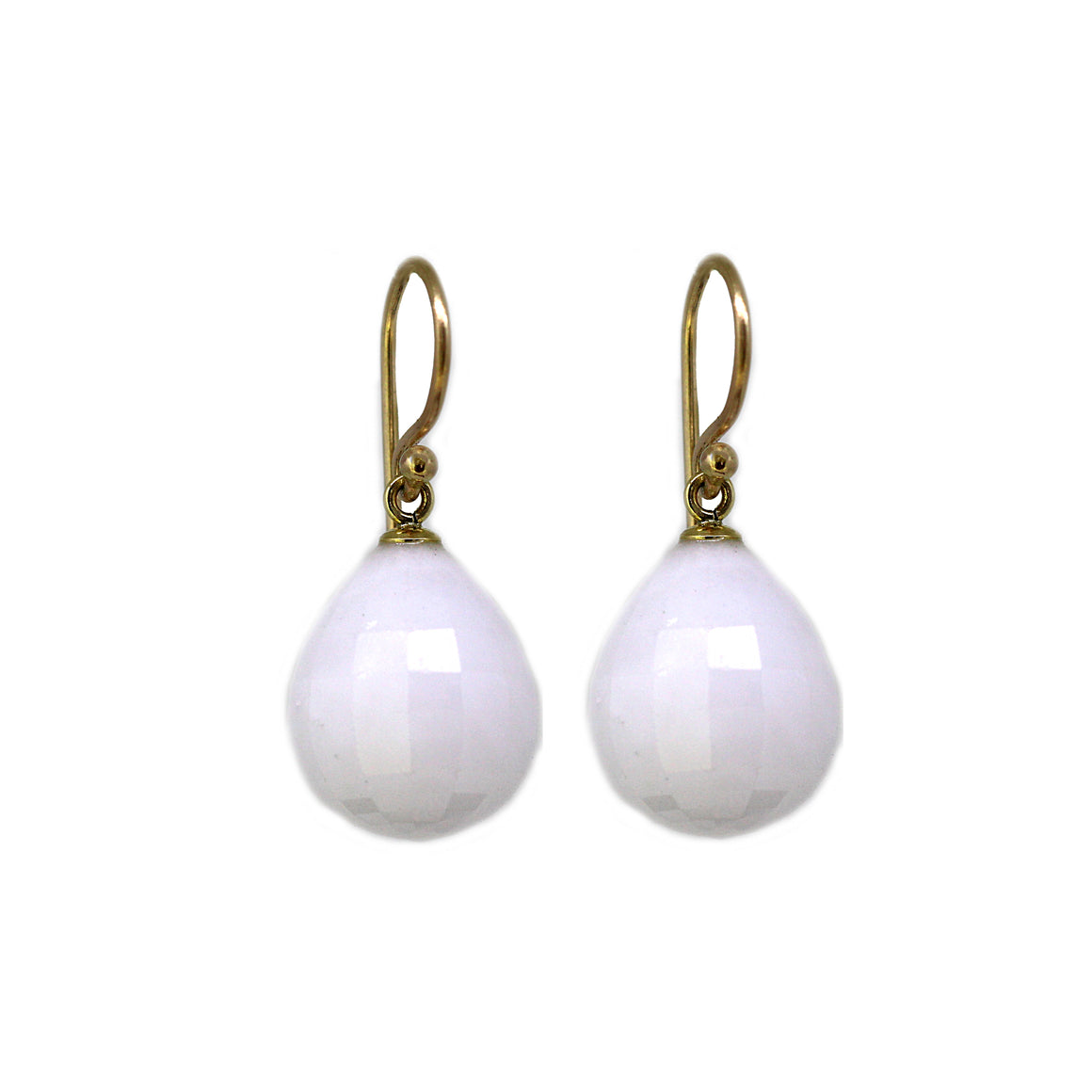 White Agate Gemstone Earrings