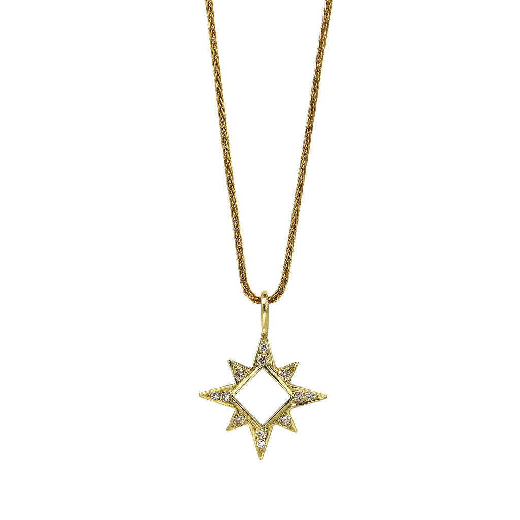 Diamond Window Star Necklace