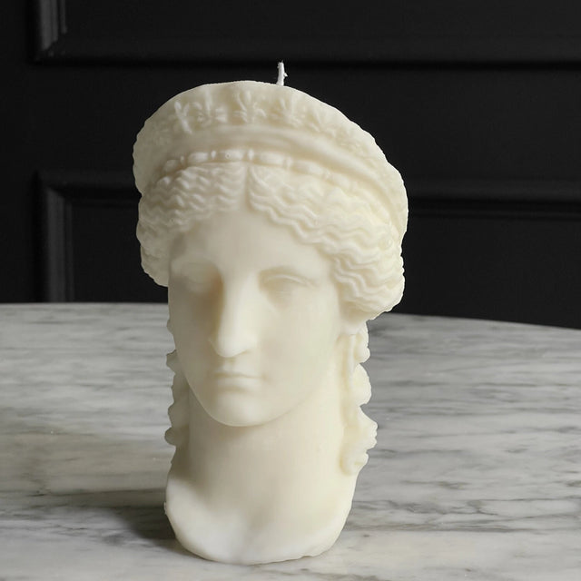 The Busted Gentleman Hera Sculpture Candle - White Wax